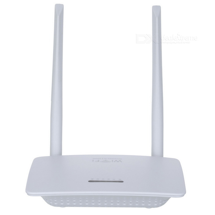 BSTUO Wireless 300Mbps Wi-Fi Router w/ Dual External Antenna - White