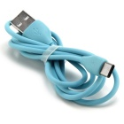 Remax Type-C Male to USB Male Fast Charging Data Cable - Blue (1m)