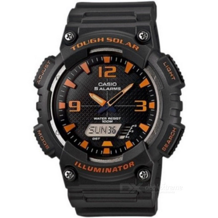 Casio AQ-S810W-8AVDF Tough Solar Sport Watch - Black+Red (Without Box)