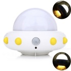 YouOKLight YK2231 UFO Shape 5-LED Cold White Sensor Night Lamp - White