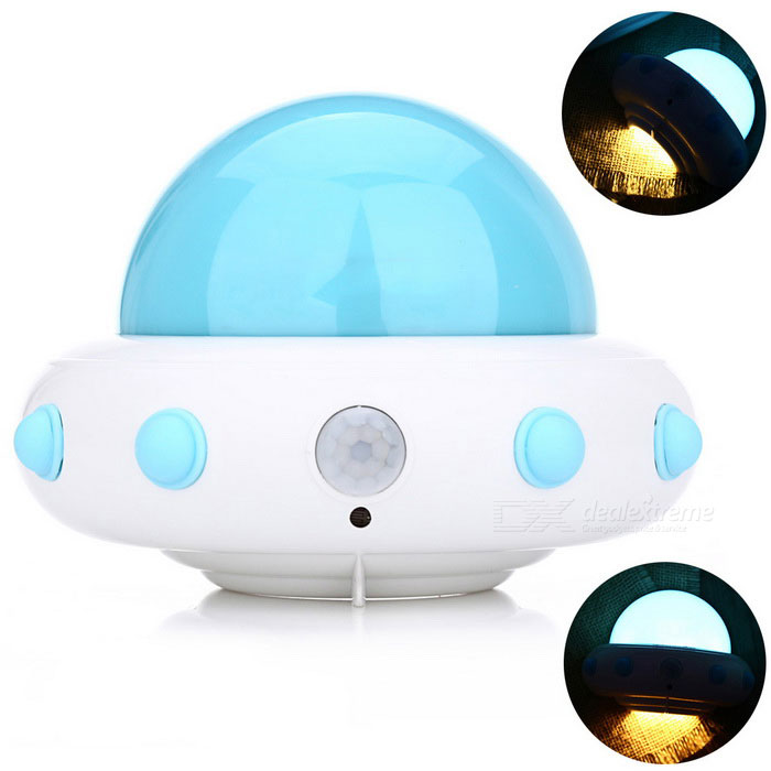 YouOKLight YK2231 UFO Shape 5-LED Cold White Sensor Night Lamp - BlueLED Nightlights<br>Form  ColorBlueModelYK2231-BlueMaterialABSQuantity1 DX.PCM.Model.AttributeModel.UnitPower1WRated VoltageOthers,DC 5 DX.PCM.Model.AttributeModel.UnitConnector TypeOthersColor BINCold WhiteEmitter TypeLEDTotal Emitters5Color Temperature6000KDimmableNoBeam Angle120 DX.PCM.Model.AttributeModel.UnitInstallation TypeWall MountPacking List1 * LED night light1 * USB cable (1.2m / 3.93ft)1 * Hanging base2 * Double-sided adhesive tapes<br>