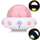 YouOKLight YK2231 UFO Shape 5-LED Cold White Sensor Night Lamp - Pink