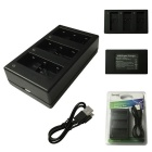 Ismartdigi DC 4.35V 3-Slot USB Battery Charger for Gopro 5 - Black