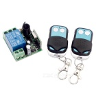 Remote Power Relay Module + 2 Remote Controllers for Remote Electric Door / Window - Black