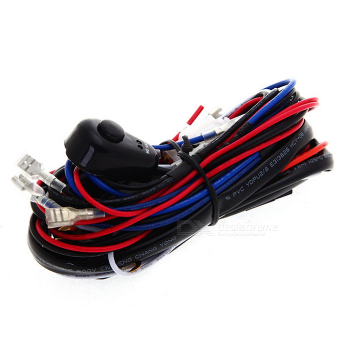 sku_453619_1 qook dc 12v 40a hid wiring harness controller for car driving 12 Volt DC Wiring at alyssarenee.co