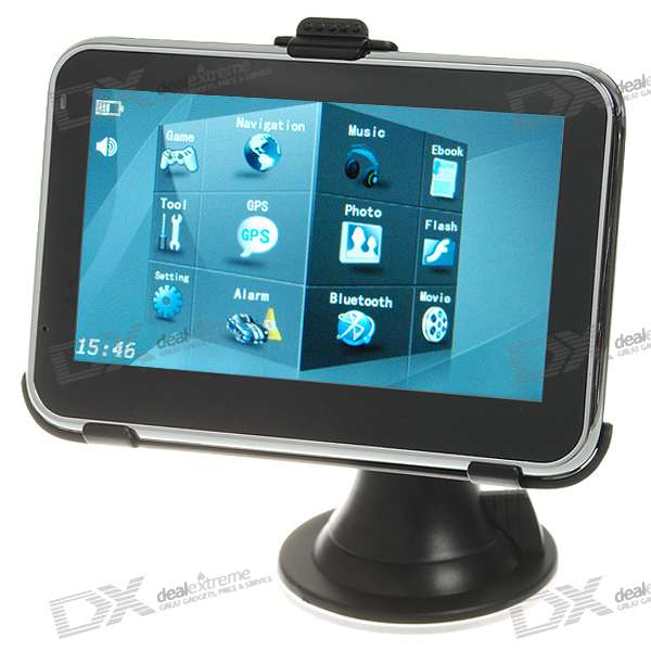 4.3 LCD Windows CE 5.0 Core GPS Navigator w/ Bluetooth + Internal 2GB Memory (Australia Maps)