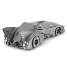 DIY Puzzle 3D Assembled Bat Car Model Puzzle Toy - Silver