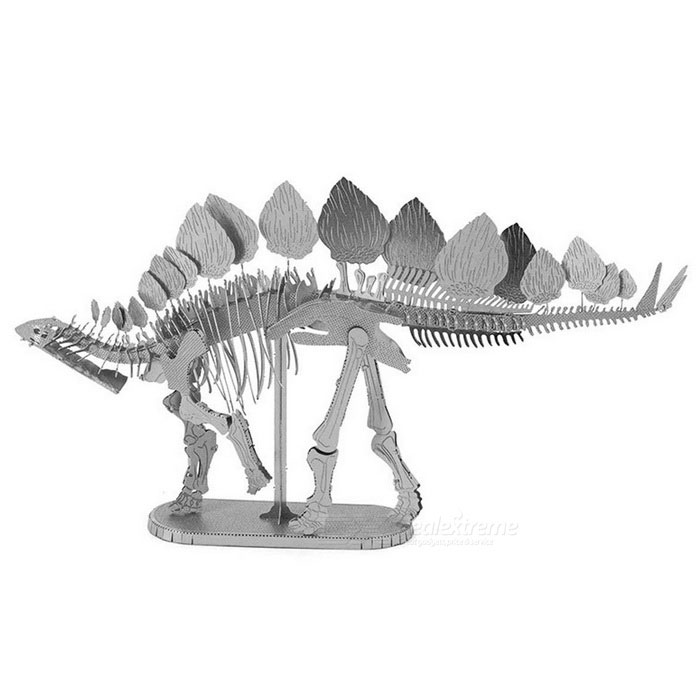 DIY Jigsaw 3D Assembling Skeleton of Stegosaurus Model Toy - SilverBlocks &amp; Jigsaw Toys<br>Form  ColorSilverMaterialStainless steelQuantity1 DX.PCM.Model.AttributeModel.UnitNumber2Size15cm*3cm*8.3cmSuitable Age 5-7 years,8-11 years,12-15 years,Grown upsPacking List1 * Model Toy<br>