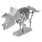 DIY Puzzle 3D Assembled Skeleton of Triceratops Model Toy - Silver