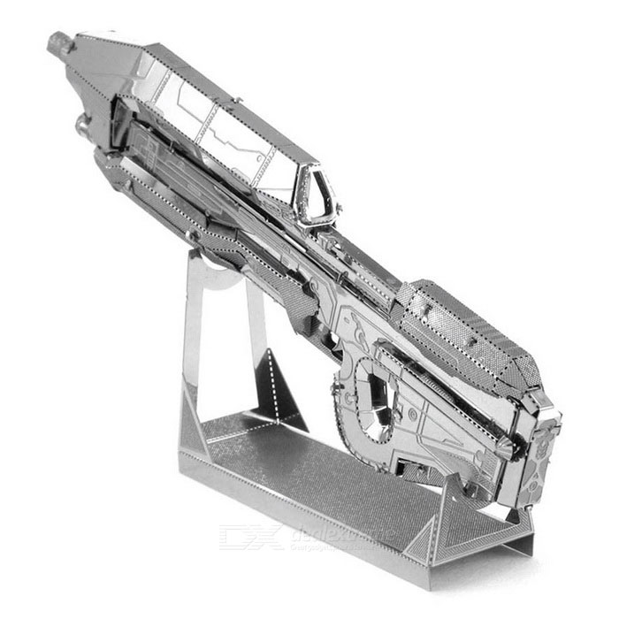 DIY Puzzle 3D Assemble Assault Rifle Model Toy - SilverBlocks &amp; Jigsaw Toys<br>Form ColorSilverMaterialStainless steelQuantity1 DX.PCM.Model.AttributeModel.UnitNumber2Size10cm * 1.6cm * 4.2cmSuitable Age 5-7 years,8-11 years,12-15 years,Grown upsPacking List1 * Model toy<br>
