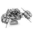 DIY Puzzle 3D Assembled Forerunner Combat Boat Model Toy - Silver