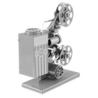DIY Puzzle 3D Assembly Projector Style Model Toy - Silver
