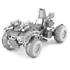 DIY Puzzles 3D Assembled Fighting Car Models Toy - Silver