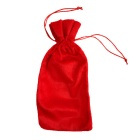 Christmas Wine Bottle Drawstring Bag Christmas Decoration - Red