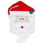 Old Man Pattern Christmas Supply Table Chair Decoration Cover - Red