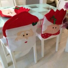 Old Lady Pattern Christmas Table Decoration Cover - Red