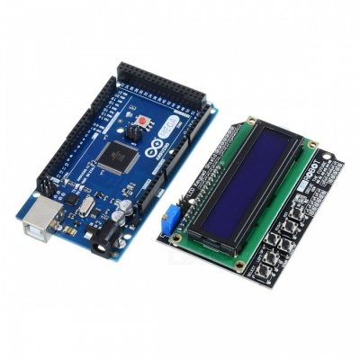 DIY Mega 2560 R3 + Keypad Shield 1602 LCD Board for Arduino - Blue