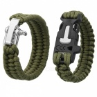 Durable Outdoor Emergency Survival Woven Bracelet (2 PCS)