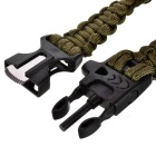 Durable Outdoor Emergency Survival Woven Bracelet w/ Whistle + Compass