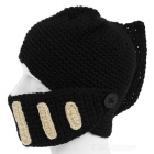 Outdoor Sports Creative Beard Wool Mask Roman Knight Hat - Black