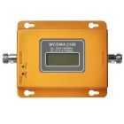 W-CDMA 2100MHz LCD Repeater / 3G Mobile Phone Signal Booster - Golden