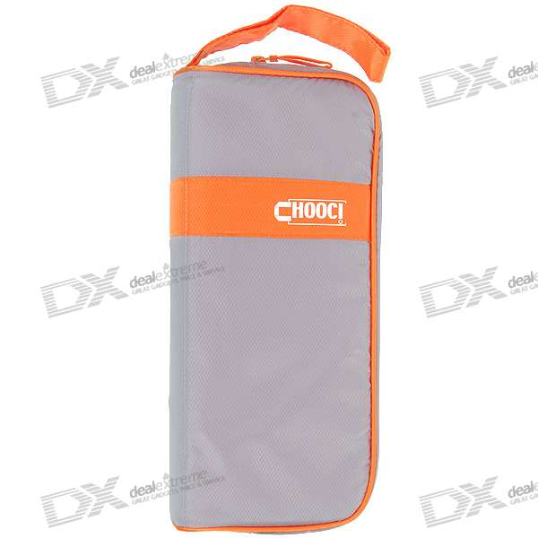 Chooci Convenient Travel Storage Set - Grey + Orange (7-Piece Set)
