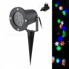 AC 100~240V 100lm 4200K Projector Light, Moving Snowflake Pattern, IP65 Waterproof - Black (EU Plug)
