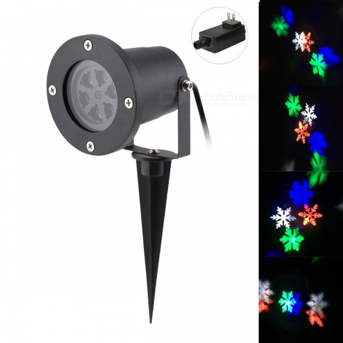 4W 6-LED Snowflake Projector RGB + Neutral White Light for ChristmasFloodlights<br>Form  ColorBlack (US Plug)Color BINRGB + neutral whiteMaterialAluminum alloyQuantity1 DX.PCM.Model.AttributeModel.UnitWaterproof LevelIP65Power4WRated VoltageAC 100-240 DX.PCM.Model.AttributeModel.UnitEmitter TypeLEDActual Lumens100 DX.PCM.Model.AttributeModel.UnitColor Temperature4200KDimmableNoBeam Angle120 DX.PCM.Model.AttributeModel.UnitPacking List1 * Projector light 1 * Bracket1 * US power adapter (5m cable)<br>