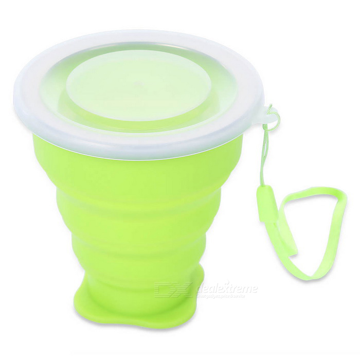 EDCGEAR Outdoor Traveling Retractable Silicone Water Bottle - Verde