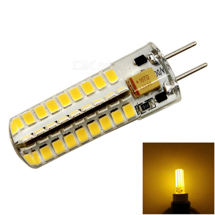 meshion GY6.35 72-2835 SMD LED Warm White Light Bulb (AC/DC 12V)