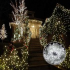 12W 200LED Decorative Cold White Christmas Twinkle String Lights (20m)
