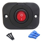 Waterproof Dustproof Red Light On-off 20A Rocker Switch for Car