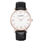 Quartz Watch Clock, Ultra-slim Stainless Steel Case, Leather Watchband, Suitable for Men and Women