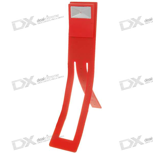 Flexible Clip-On LED Reading Booklight - Red (3*AG13)