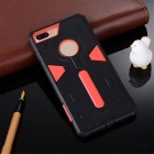 Detachable Protective PC + TPU Case for IPHONE 7 PLUS - Red + Black