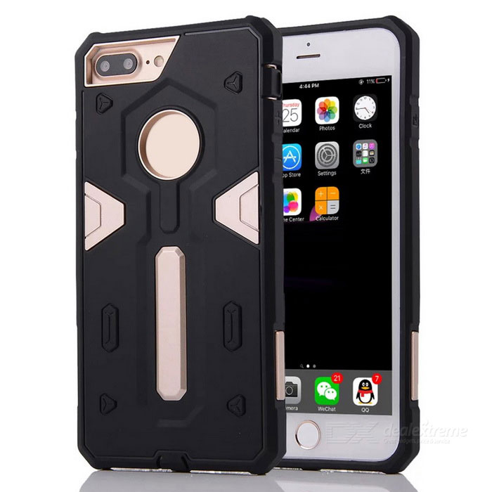 Detachable PC + TPU Back Case for IPHONE 7 PLUS - Golden + Black