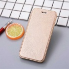 Flip Open PU Leather Case w/ Stand / Card Slots for IPHONE 7 - Golden