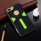 Detachable Protective PC + TPU Case for IPHONE 7 PLUS - Green + Black