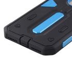 Desmontable PC + TPU trasera caso para IPHONE 7 PLUS - azul cielo + negro