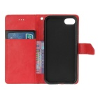"PU Leather Wallet Case w/ Stand for IPHONE 7 4.7"" - Red + Black"