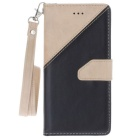 "PU Leather Wallet Case w/ Stand for IPHONE 7 4.7"" - Off-white + Black"