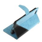 "PU Leather Wallet Cases w/ Stand for IPHONE 7 4.7"" - Sky Blue + Black"