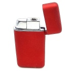 Untra Thin Windproof Refillable Butane Gas Metal Lighter - Red