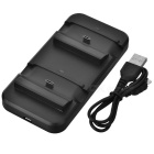 DC5V Mini Dual Charging Dock for XBOX ONE S Controller - Black
