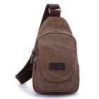 LOCAL LION 1320 Canvas Single Shoulder Chest Package Bag - Brown
