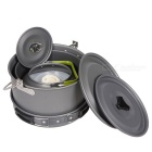 HALIN Portable Outdoor Camping Cooking Pot Set - Grey (5~6 People)
