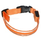 Retractable 2-LED Orange Light 3-Mode Flashing Reflective Pet Collar for Walking Dogs at Night