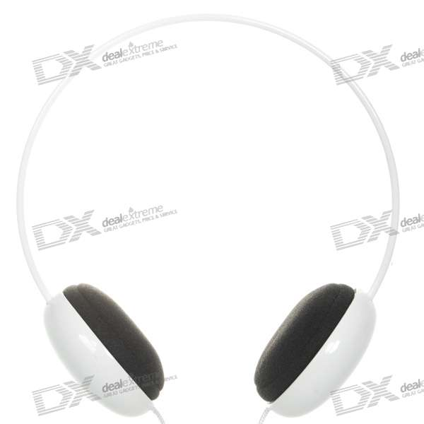 Kanen KM-250 PC/Laptop Stereo Headset with Microphone - White (3.5mm/1.5M Cable)