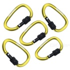 NatureHike 6cm Type-D Quick Release Buckle - Green+ Black (5 PCS)