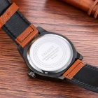 CAGARNY Waterproof Casual Big Dial Men Quartz Watch - Black + Brown